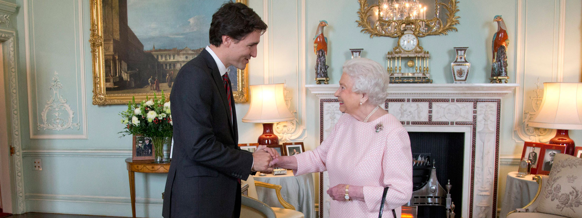 The Prime Minister Meets the Queen of Canada