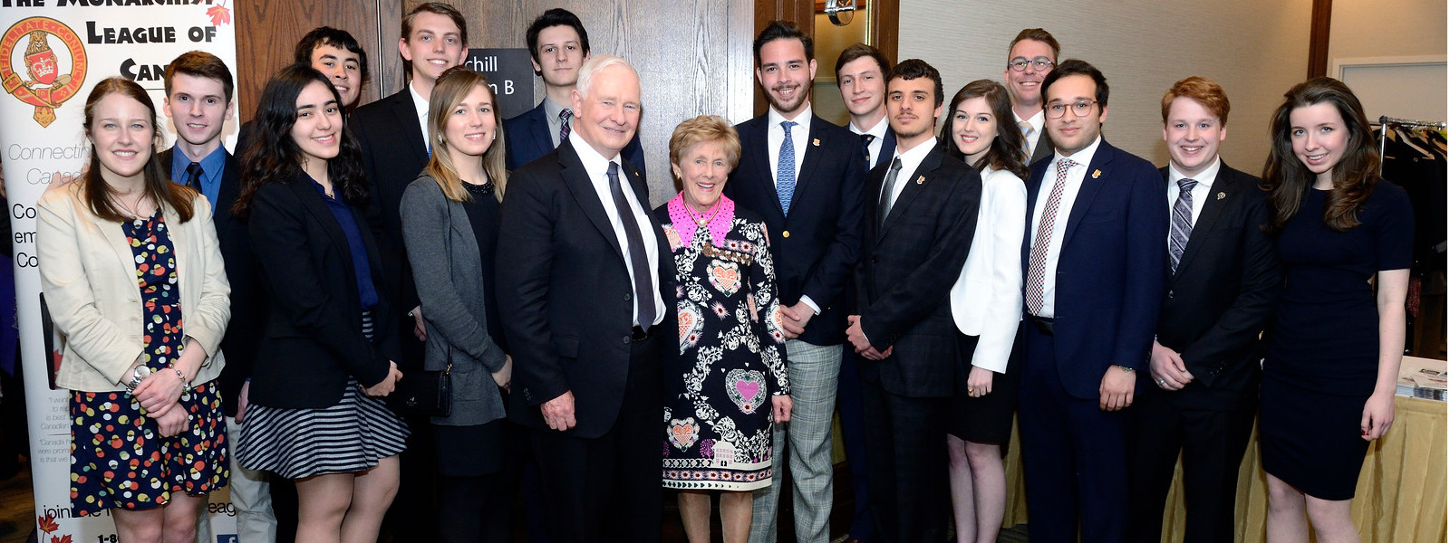 Young Monarchists with the Governor General